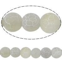 Natürliche Effloresce Achat Perlen, Auswitterung Achat, rund, verschiedene Größen vorhanden, Bohrung:ca. 0.8-1.5mm, verkauft per ca. 15 ZollInch Strang