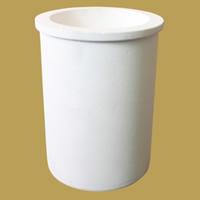 Quarz Schmelztiegel, Zylinder, weiß, 81.4x127.5mm,60mm, 3PCs/Menge, verkauft von Menge