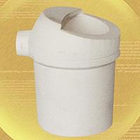 Quarz Schmelztiegel, weiß, 52x90mm, 2PCs/Menge, verkauft von Menge