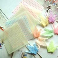 Origami Papier, Quadrat, für Origami-Kraniche machen & mit einem Muster von Herzen & glänzend, gemischte Farben, 65x65mm, 30Taschen/Menge, ca. 10PCs/Tasche, verkauft von Menge