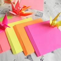 Origami Papier, Quadrat, für Origami-Kraniche machen, gemischte Farben, 20Taschen/Menge, ca. 80PCs/Tasche, verkauft von Menge