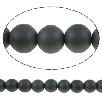 Nicht-magnetische Hämatit Perlen, Non- magnetische Hämatit, rund, verschiedene Größen vorhanden, schwarz, Bohrung:ca. 1.5mm, Länge:ca. 15.7 ZollInch, 10SträngeStrang/Menge, verkauft von Menge