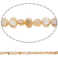 Barock kultivierten Süßwassersee Perlen, Natürliche kultivierte Süßwasserperlen, 5-6mm, Bohrung:ca. 0.8mm, verkauft per 14.5 ZollInch Strang