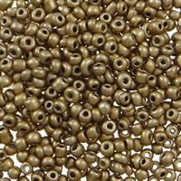 Plattierte Glas Rocailles, Glas-Rocailles, rund, verschiedene Größen vorhanden, Kaffeefarbe, Bohrung:ca. 1mm, verkauft von Tasche