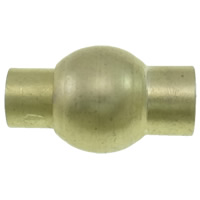 Zinklegierung Magnetverschluss, goldfarben plattiert, frei von Nickel, Blei & Kadmium, 9x16mm, Bohrung:ca. 3mm, 10PCs/Tasche, verkauft von Tasche