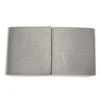 Edelstahl Magnetverschluss, Rechteck, Weitere Größen für Wahl, originale Farbe, 10PCs/Menge, verkauft von Menge