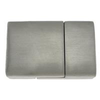 Edelstahl Magnetverschluss, Rechteck, Weitere Größen für Wahl, originale Farbe, Bohrung:ca. 14x5mm, 10PCs/Menge, verkauft von Menge