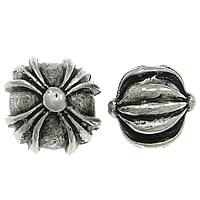 Zink Legierung Perlen Schmuck, Zinklegierung, rund, Platinfarbe platiniert, verschiedene Größen vorhanden & gewellt & Schwärzen, frei von Nickel, Blei & Kadmium, 200PCs/Menge, verkauft von Menge