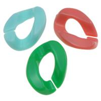 Acryl Verbindungsring, Klumpen, offen & Gellee Stil, gemischte Farben, 17x24x5mm, Bohrung:ca. 6x12mm, ca. 550PCs/Tasche, verkauft von Tasche