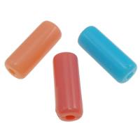 Gelee-Stil-Acryl-Perlen, Acryl, Zylinder, Gellee Stil, gemischte Farben, 13x5mm, Bohrung:ca. 1.5mm, ca. 1250PCs/Tasche, verkauft von Tasche