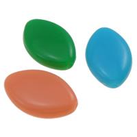 Gelee-Stil-Acryl-Perlen, Acryl, Pferdeauge, Gellee Stil, gemischte Farben, 17.20x11x4mm, Bohrung:ca. 1mm, ca. 1250PCs/Tasche, verkauft von Tasche