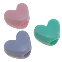 Gelee-Stil-Acryl-Perlen, Acryl, Herz, Gellee Stil, gemischte Farben, 9x12x7mm, Bohrung:ca. 4mm, ca. 1250PCs/Tasche, verkauft von Tasche