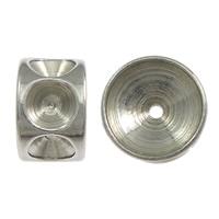 Edelstahl Perlen Einstellung, Rondell, originale Farbe, 5x8mm, Bohrung:ca. 1mm, Innendurchmesser:ca. 8, 3mm, 200PCs/Menge, verkauft von Menge
