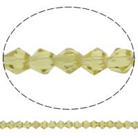 Doppelkegel Kristallperlen, Kristall, facettierte, Silber Champagner, 5x5mm, Bohrung:ca. 0.5mm, Länge:11.5 ZollInch, 10SträngeStrang/Tasche, verkauft von Tasche