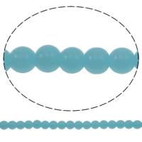 Runde Kristallperlen, Kristall, Türkis, 8mm, Bohrung:ca. 1.5mm, Länge:12.7 ZollInch, 10SträngeStrang/Tasche, verkauft von Tasche