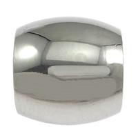 Edelstahl-Perlen mit großem Loch, Edelstahl, oval, originale Farbe, 11x12mm, Bohrung:ca. 8.5mm, 100PCs/Menge, verkauft von Menge
