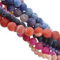 Natürliche Effloresce Achat Perlen, Auswitterung Achat, rund, Weitere Größen für Wahl, keine, verkauft von Menge