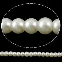 Perlmuttartige Glasperlen, rund, keine, 6mm, Bohrung:ca. 1mm, Länge:ca. 32 ZollInch, 10StrangStrang/Tasche, 168PCs/Strang, verkauft von Tasche
