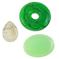 Mischedelstein Perlen, gemischte Materialien, gemischt, frei von Nickel, Blei & Kadmium, 10-42mm, Bohrung:ca. 1-10mm, ca. 50PCs/kg, verkauft von kg