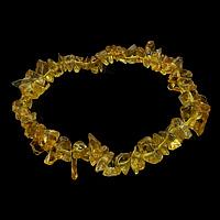 Glas Armband, goldgelb, 4-7x5-13mm, Länge:ca. 7 ZollInch, 50SträngeStrang/Menge, verkauft von Menge