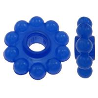 Acryl Zwischenperlen, Blume, transluzent, keine, 17x17x6mm, Bohrung:ca. 5mm, 10Taschen/Menge, ca. 710/Tasche, verkauft von Menge