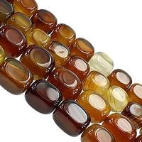 Madagaskar Achat Perle, Rechteck, verschiedene Größen vorhanden, Kaffeefarbe, Länge:ca. 14.5 ZollInch, verkauft von Menge