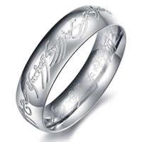 Edelstahl Herren-Fingerring, Kreisring, verschiedene Größen vorhanden & für den Menschen, originale Farbe, 6mm, 20PCs/Tasche, verkauft von Tasche