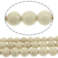 Holzopal Perle, rund, Weitere Größen für Wahl & facettierte, Bohrung:ca. 1mm, verkauft von Menge