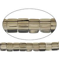 Natürliche Rauchquarz Perlen, Würfel, 4x4x4mm, Bohrung:ca. 1mm, Länge:ca. 16 ZollInch, 10SträngeStrang/Menge, ca. 97PCs/Strang, verkauft von Menge