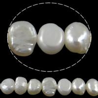 Barock kultivierten Süßwassersee Perlen, Natürliche kultivierte Süßwasserperlen, natürlich, weiß, Klasse AA, 4-5mm, Bohrung:ca. 0.8mm, verkauft per ca. 15 ZollInch Strang