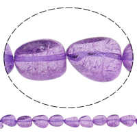 Tropfen Kristallperlen, Kristall, Knistern, mittler Amethyst, 14x18x10mm, Bohrung:ca. 1mm, ca. 25PCs/Strang, verkauft per ca. 15.5 ZollInch Strang