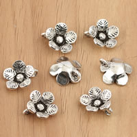 Bali Sterling Silber Anhänger, Thailand, Blume, 10x10mm, Bohrung:ca. 1.5mm, 10PCs/Tasche, verkauft von Tasche