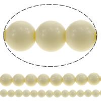 Riesenmuscheln Perlen, Riesenmuschel, rund, Nachahmung Elfenbein & Weitere Größen für Wahl, Länge:ca. 15.5 ZollInch, verkauft von Menge