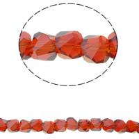Klasse AA Kristallperlen, Kristall, Doppelkegel, bunte Farbe plattiert, verschiedene Größen vorhanden & facettierte & AA grade crystal, Hyazinth, Bohrung:ca. 1mm, verkauft per ca. 15.5 ZollInch Strang