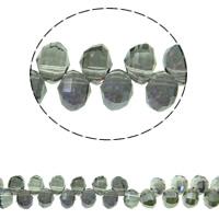 Klasse AA Kristallperlen, Kristall, bunte Farbe plattiert, verschiedene Größen vorhanden & facettierte & AA grade crystal, Montana, Bohrung:ca. 1mm, verkauft per ca. 13 ZollInch Strang