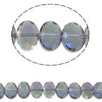 Klasse AA Kristallperlen, Kristall, Ellipse, bunte Farbe plattiert, verschiedene Größen vorhanden & facettierte & AA grade crystal, Light Colorado Topaz AB2x, Bohrung:ca. 1.5mm, verkauft per ca. 15.5 ZollInch Strang