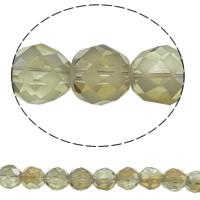 Klasse AA Kristallperlen, Kristall, rund, bunte Farbe plattiert, verschiedene Größen vorhanden & facettierte & AA grade crystal, Schatten Kristall, Bohrung:ca. 1mm, verkauft per ca. 15.5 ZollInch Strang