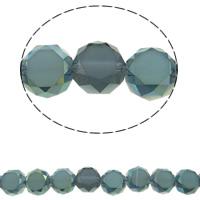Klasse AA Kristallperlen, Kristall, flache Runde, bunte Farbe plattiert, verschiedene Größen vorhanden & facettierte & AA grade crystal, Bohrung:ca. 1mm, verkauft per ca. 15.5 ZollInch Strang