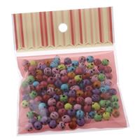 Volltonfarbe Acryl Perlen, gemischt, 8x8mm, 100x170mm, Bohrung:ca. 1mm, ca. 120PCs/Tasche, verkauft von Tasche