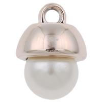 Verkupferter Kunststoff Anhänger, Rósegold-Farbe plattiert, mit Kunststoff-Perlen, frei von Nickel, Blei & Kadmium, 13x17mm, Bohrung:ca. 3mm, 500PCs/Tasche, verkauft von Tasche