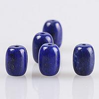 natürlicher Lapislazuli Perle, Zylinder, 10.50x13mm, Bohrung:ca. 1mm, 30PCs/Menge, verkauft von Menge