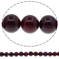 Natürliche violette Achat Perlen, Violetter Achat, rund, verschiedene Größen vorhanden, Bohrung:ca. 1mm, Länge:ca. 15 ZollInch, verkauft von Menge