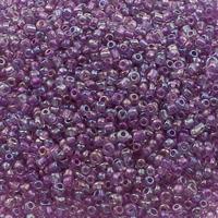 Regenbogen Glas-Rocailles, rund, transparent, keine, 2x1.9mm, Bohrung:ca. 1mm, ca. 30000PCs/Tasche, verkauft von Tasche