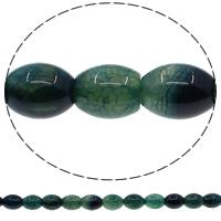 Natürliche Crackle Achat Perlen, Geknister Achat, oval, grün, 12x16mm, Bohrung:ca. 1mm, Länge:ca. 15 ZollInch, 10SträngeStrang/Menge, ca. 25PCs/Strang, verkauft von Menge