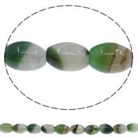 Zwei Ton Achat Perlen, Zweifarbiger Achat, oval, verschiedene Größen vorhanden, Bohrung:ca. 1mm, Länge:ca. 15 ZollInch, verkauft von Menge