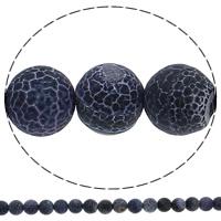 Natürliche Effloresce Achat Perlen, Auswitterung Achat, rund, 10mm, Bohrung:ca. 1mm, Länge:ca. 15 ZollInch, 10SträngeStrang/Menge, ca. 38PCs/Strang, verkauft von Menge