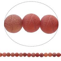 Natürliche Effloresce Achat Perlen, Auswitterung Achat, rund, keine, 8mm, Bohrung:ca. 1mm, ca. 48PCs/Strang, verkauft per ca. 14.2 ZollInch Strang