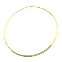 Mode-Halskette, 304 Edelstahl, goldfarben plattiert, 4mm, Innendurchmesser:ca. 137x137mm, Länge:ca. 17 ZollInch, 5PCs/Menge, verkauft von Menge