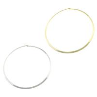 Mode-Halskette, 304 Edelstahl, plattiert, keine, 4mm, Innendurchmesser:ca. 140x140mm, Länge:ca. 17 ZollInch, 5PCs/Menge, verkauft von Menge