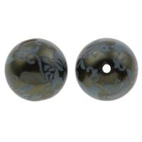 Kunstdruck Acrylperlen, Acryl, rund, dunkelgrün, 20mm, 100x170mm, Bohrung:ca. 2mm, 10PCs/Tasche, verkauft von Tasche